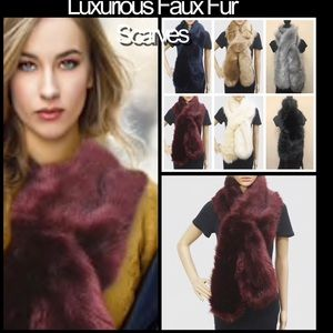 Luxurious QUALITY Faux Fur Scarves, NWT